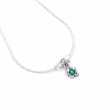 """Izraeli ezüst opál köves medál lánccal """"apró virág"""""""