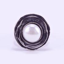 """Izraeli ezüst gyűrű gyönggyel """"kerek"""""""