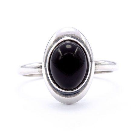 """Ezüst ónix köves gyűrű """"7x9"""""""