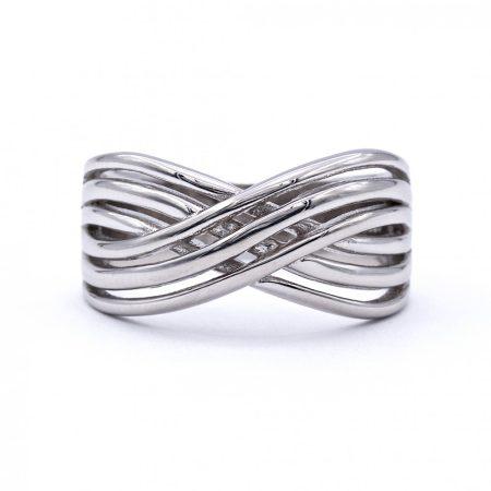"""Ezüst kő nélküli gyűrű """"X"""""""