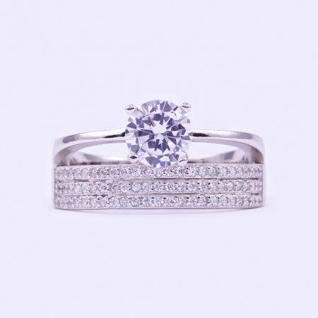 """Ezüst cirkónia köves gyűrű """"2-1.3.soros"""""""