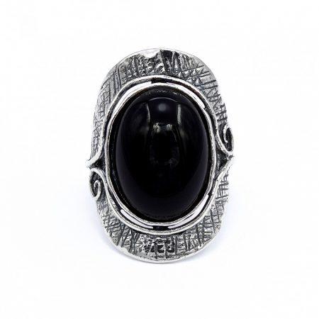 """Izraeli ezüst ónix köves gyűrű """"13x18"""""""