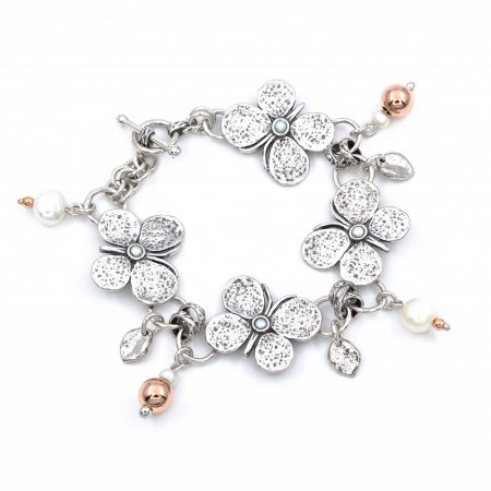 """Izraeli ezüst karkötő gyöngyökkel """"pillangó"""""""