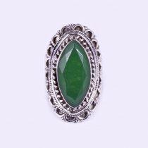 Ezüst antikolt smaragd gyűrű