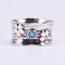 """Izraeli ezüst opál köves csőgyűrű """"virág"""""""