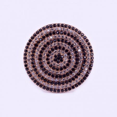 Ezüst rosé aranyozott cirkónia köves gyűrű
