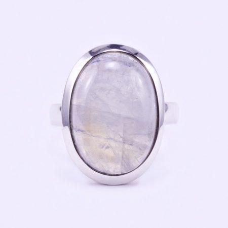 """Ezüst holdkő gyűrű """"15,5x21"""""""