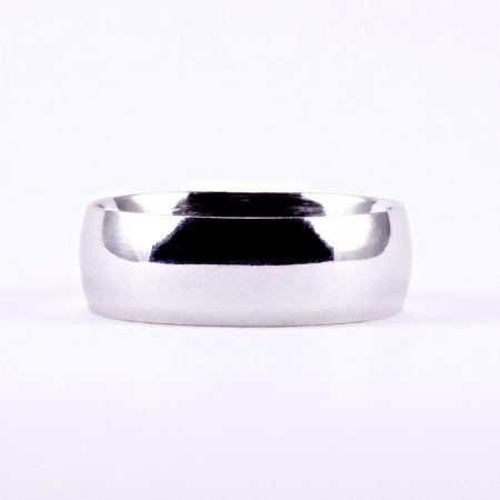 Ezüst ródiumozott karikagyűrű