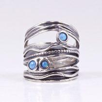 Izraeli ezüst opál gyűrű