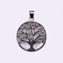 Ezüst cirkónia köves életfa medál