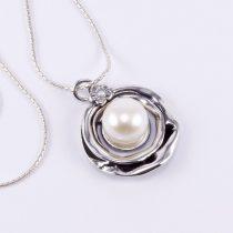 """Izraeli ezüst gyöngy medál lánccal """"kis.virág"""""""