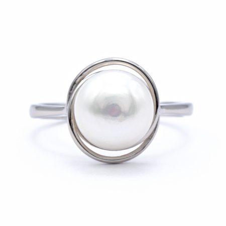 Ezüst gyöngy gyűrű