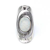 """Izraeli ezüst druzy köves gyűrű """"nagy.világos"""""""