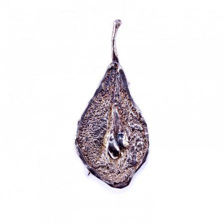 """Egyedi ezüst kitűző és medál egyben""""körte"""""""