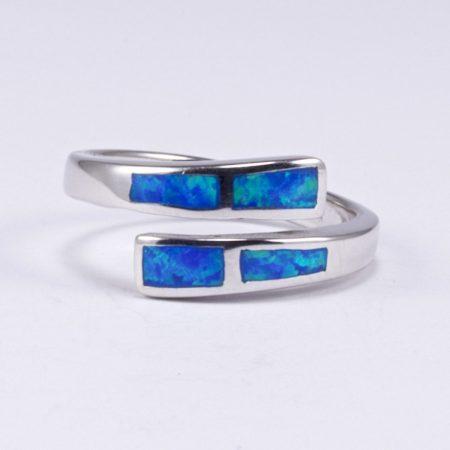 Ezüst kék opál gyűrű 4.