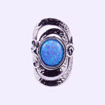 """Izraeli ezüst opál köves gyűrű """"10x12"""""""