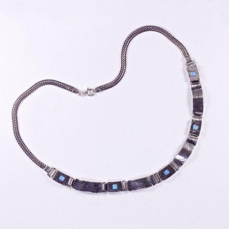 """Izraeli ezüst opál lánc """"négyzet"""""""