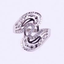 """Ezüst vésett, cirkónia köves gyűrű """"18x20"""""""