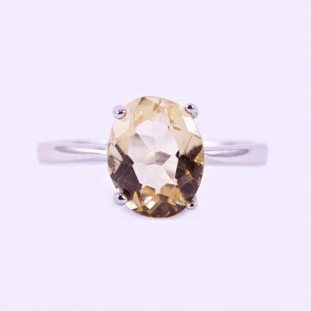 """Ezüst citrin köves gyűrű ˇ""""8x10"""""""