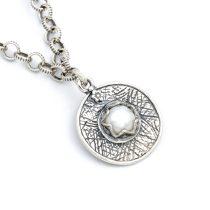 """Izraeli ezüst gyöngy medál lánccal """"fix"""""""