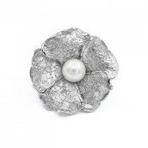 """Ezüst gyűrű gyönggyel """"nagy.virág"""""""