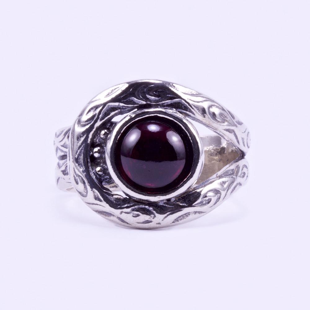 768a15a5b Izraeli ezüst gránát köves gyűrű