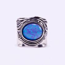 """Izraeli ezüst opál köves gyűrű """"12x10"""""""