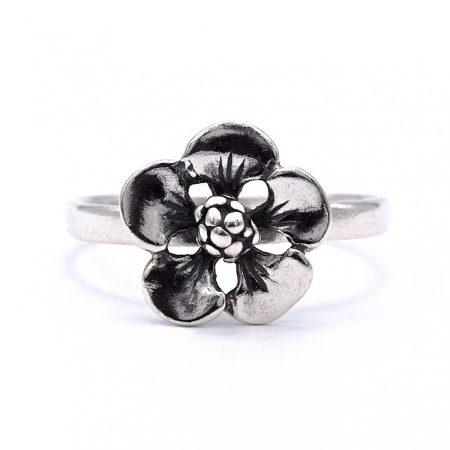 """Ezüst kő nélküli gyűrű """"kis.virág"""""""