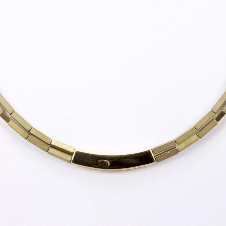 Egyedi ezüst aranyozott félmerev lánc
