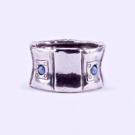 """Izraeli ezüst csőgyűrű opál kővel """"hom"""""""