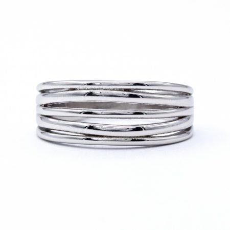 """Ezüst kő nélküli gyűrű """"5 soros"""""""