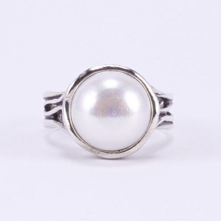 Izraeli ezüst gyöngy gyűrű