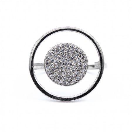"""Ezüst cirkónia köves gyűrű """"2.kerek"""""""