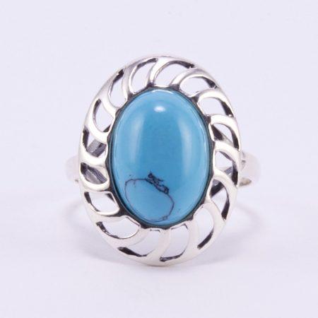 """Ezüst türkiz gyűrű """"nagy kab"""""""