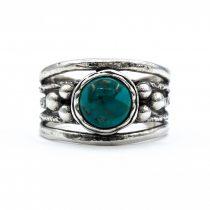 """Izraeli ezüst türkiz köves gyűrű """"gömbök"""""""