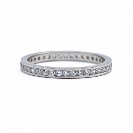 """Ezüst cirkónia köves gyűrű """"egysoros"""""""
