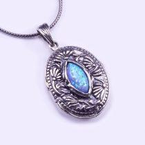 Izraeli ezüst opál köves kinyitható medál lánccal