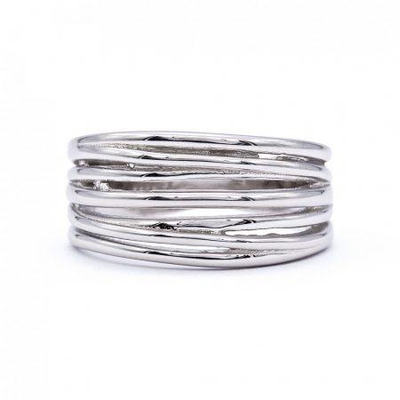 """Ezüst kő nélküli gyűrű """"7 soros"""""""