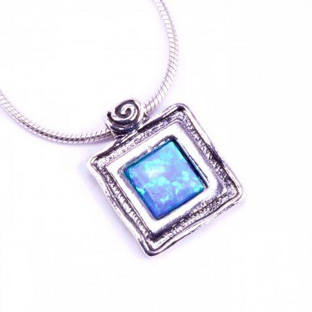 """Izraeli ezüst opál köves medál lánccal """"kis.csigav"""""""