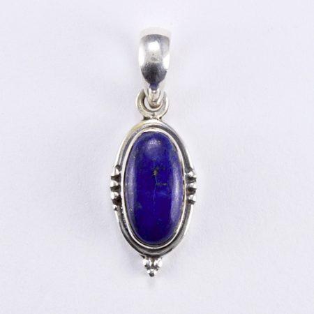 Ezüst lápisz lazuli medál