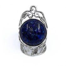 """Izraeli ezüst lapisz lazuli köves gyűrű """"kerek"""""""