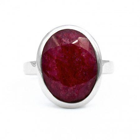 """Ezüst rubin köves gyűrű """"12x16"""""""