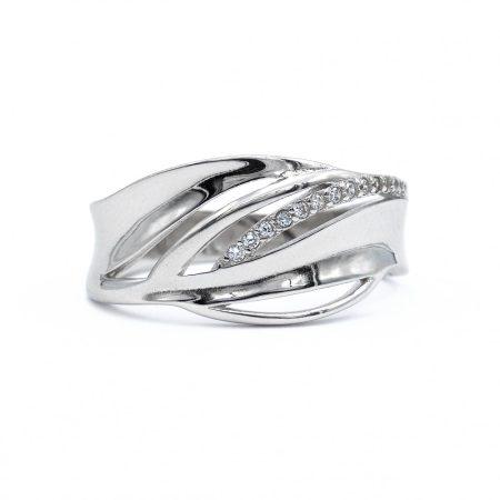 """Ezüst cirkónia köves gyűrű """"11"""""""