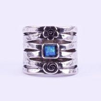 """Izraeli ezüst opál köves gyűrű """"virág"""""""