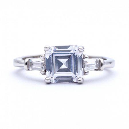 """Ezüst cirkónia köves gyűrű """"7x7"""""""