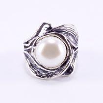 """Izraeli ezüst gyöngy gyűrű """"levél"""""""