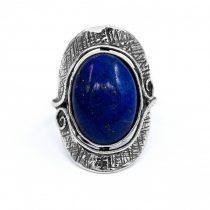 """Izraeli ezüst lapisz lazuli köves gyűrű """"ovális"""""""