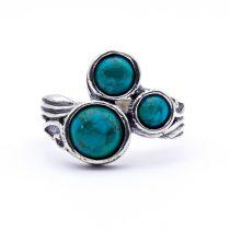 """Izraeli ezüst türkiz köves gyűrű """"háromszög"""""""