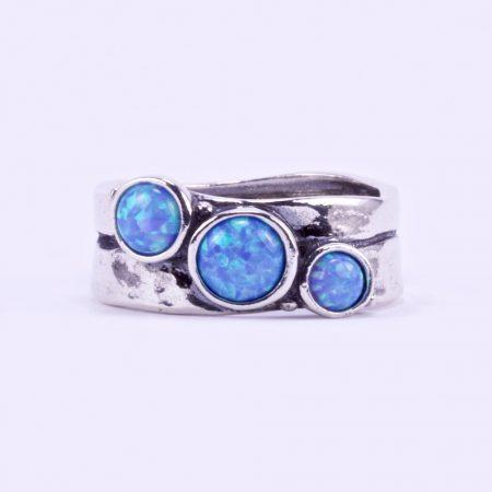 """Izraeli ezüst opál köves gyűrű """"3.átlós"""""""