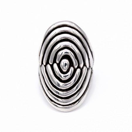 """Ezüst kő nélküli gyűrű """"22x34"""""""